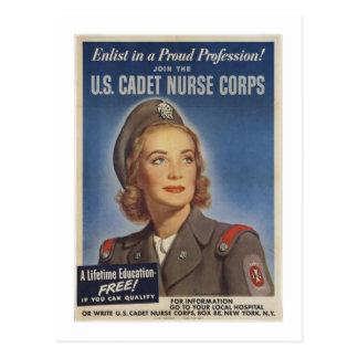 Enfermeras del cadete del vintage tarjetas postales