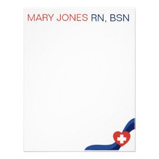 Enfermeras Notecard plano Comunicados Personales