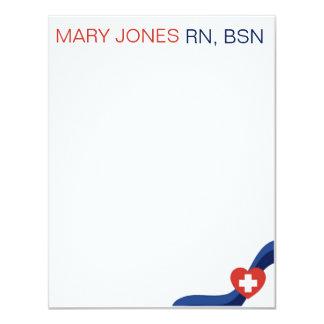 Enfermeras Notecard plano Invitación 10,8 X 13,9 Cm