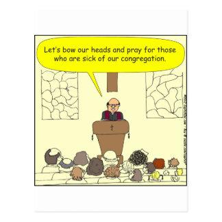 Enfermo 345 de nuestro dibujo animado del color de postal