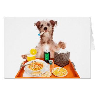 Enfermo como tarjeta de felicitación del perro