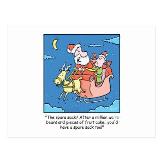 Enfermo de Papá Noel del dibujo animado del navida Tarjetas Postales