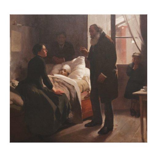 Enfermo del EL Niño de Arturo Michelena 1886 Impresion En Lona