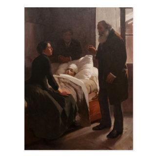 Enfermo del EL Niño de Arturo Michelena 1886 Postal