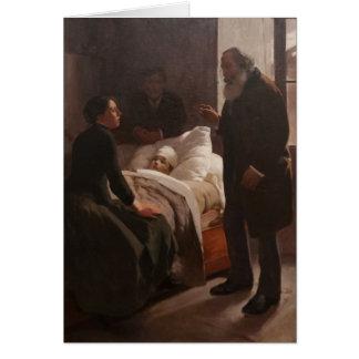Enfermo del EL Niño de Arturo Michelena 1886 Tarjetón