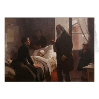 Enfermo del EL Niño de Arturo Michelena 1886 Felicitación