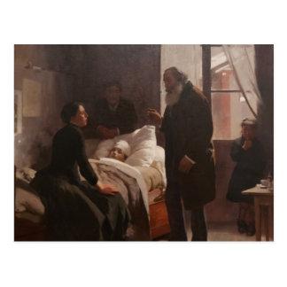 Enfermo del EL Niño de Arturo Michelena 1886 Tarjeta Postal