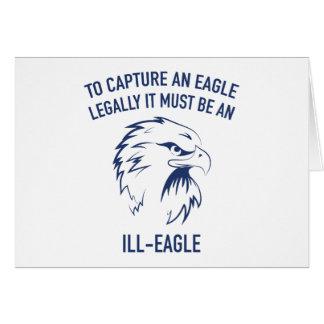 Enfermo-Eagle Tarjeta De Felicitación