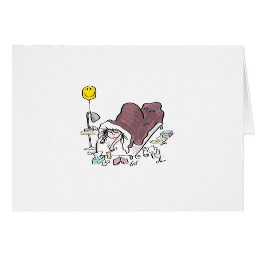 Enfermo en tarjeta de la cama