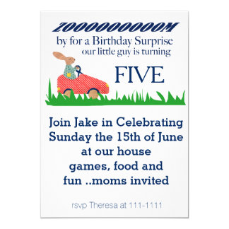 Enfoque por sorpresa del cumpleaños invitación 12,7 x 17,8 cm