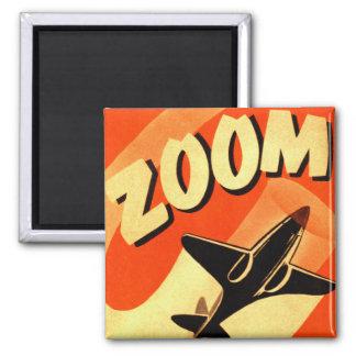 Enfoque retro de los aviones del aeroplano del kit imán cuadrado