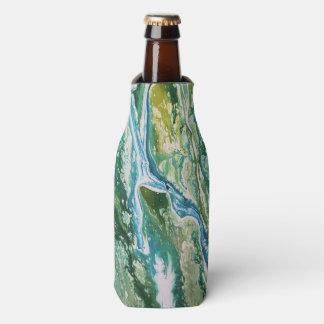 Enfriador De Botellas Cascada azulverde abstracta colorida de la