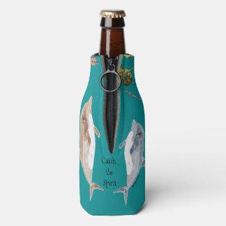 Enfriador De Botellas Coja el océano de los pescados de los delfínes del
