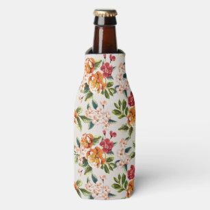 Enfriador De Botellas Estampado de flores de la acuarela del Victorian