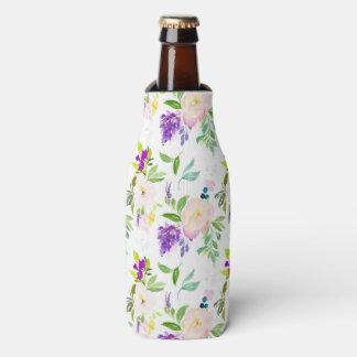 Enfriador De Botellas La acuarela delicada florece Peonies y Wisterias