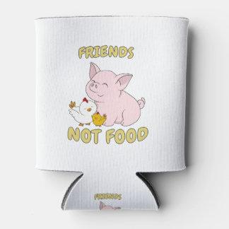 Enfriador De Latas Comida de los amigos no - cerdo y pollo lindos