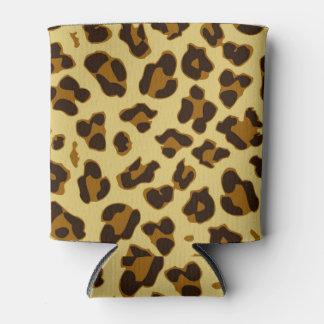 Enfriador De Latas El modelo del estampado de animales del leopardo