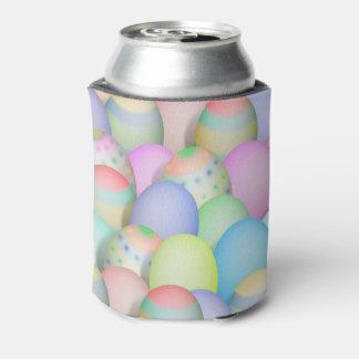 Enfriador De Latas Fondo coloreado de los huevos de Pascua