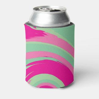 Enfriador De Latas Giro rosado, magenta, verde y de la verde menta