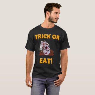 Engañe o coma la camisa divertida del zombi de