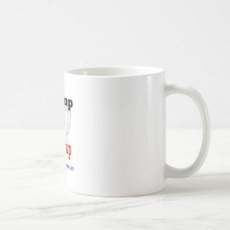 Engranaje americano de la elección del triunfo de taza de café