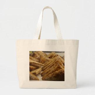 Engranaje curruscante de la comida del placer de l bolsa tela grande