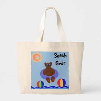 Engranaje de la playa bolsa tela grande