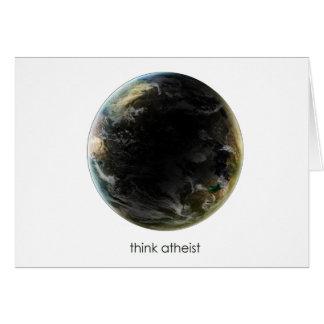 Engranaje de la tierra del planeta tarjeta de felicitación
