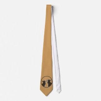 Engranaje de las ovejas negras en sepia corbata personalizada