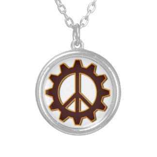 Engranaje de Steampunk y símbolo de paz Colgante Personalizado