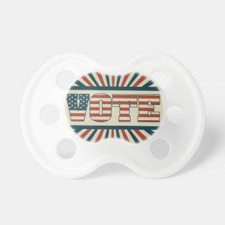 Engranaje de votación retro chupete de bebe
