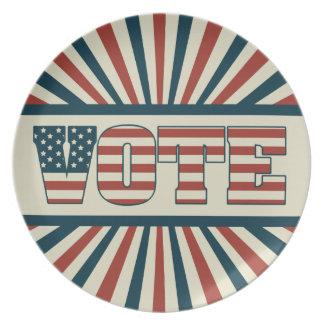 Engranaje de votación retro platos