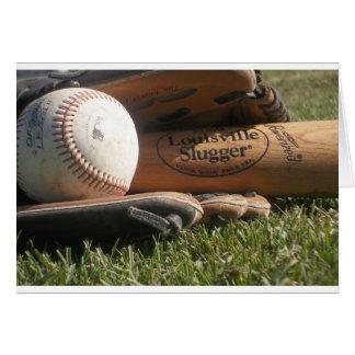 Engranaje del béisbol tarjeta