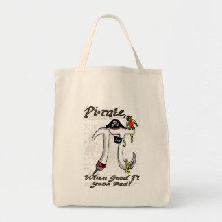 Engranaje del día del pirata pi bolsa tela para la compra
