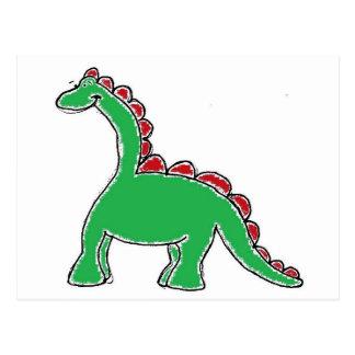 Engranaje del dinosaurio tarjetas postales