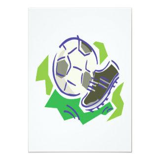 Engranaje del fútbol invitaciones personalizada