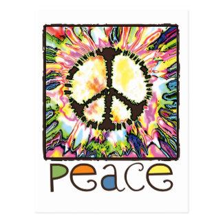 Engranaje del signo de la paz por los estudios de  postal