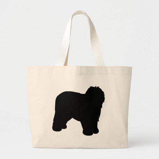 Engranaje inglés viejo del perro pastor bolsa de mano