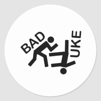 Engranaje temático del judo pegatina redonda