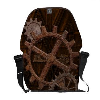 Engranajes de Steampunk en diseño geométrico de la Bolsas De Mensajeria
