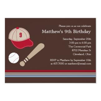 Engranajes del béisbol - invitación de la fiesta