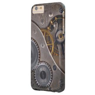 Engranajes oxidados del mecanismo de Steampunk Funda Barely There iPhone 6 Plus