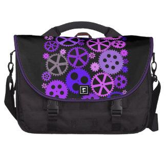 Engranajes púrpuras bolsas para ordenador