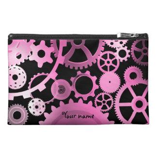 Engranajes rosados femeninos del steampunk