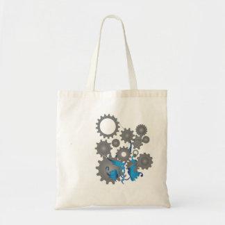 Engranajes y flores bolsas