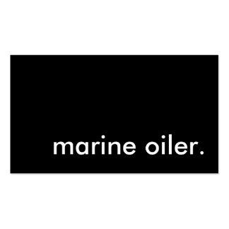 engrasador marino tarjetas de visita