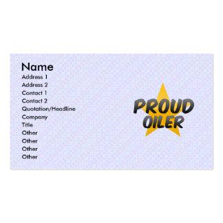 Engrasador orgulloso plantilla de tarjeta de negocio
