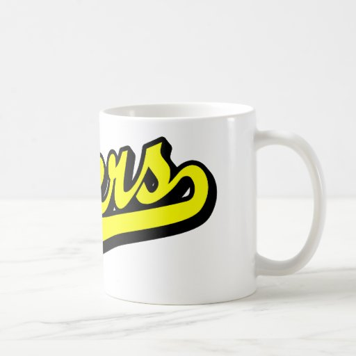 Engrasadores en amarillo tazas de café