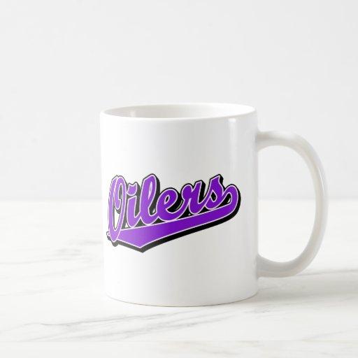 Engrasadores en púrpura tazas