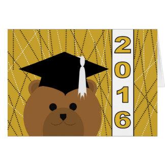 Enhorabuena 2016 de la graduación tarjeta de felicitación